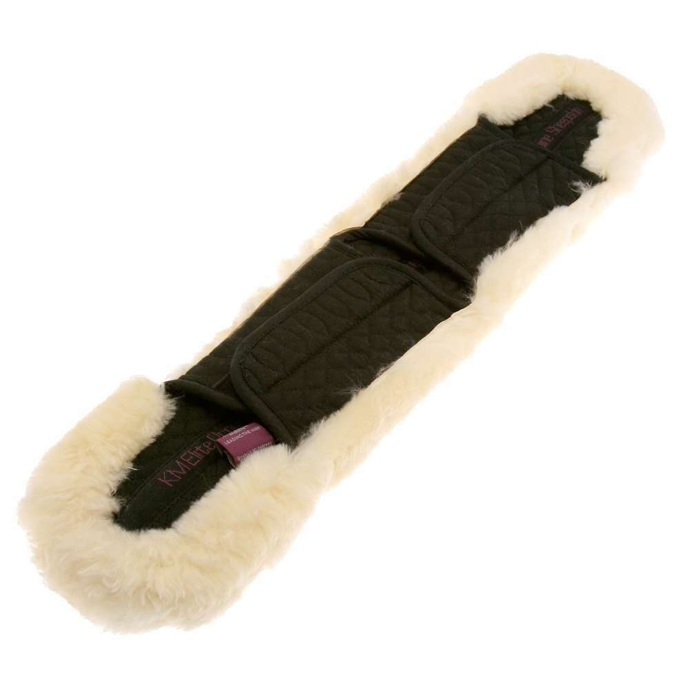 Cotton Girth Sleeve with Velcro Black-Natural
