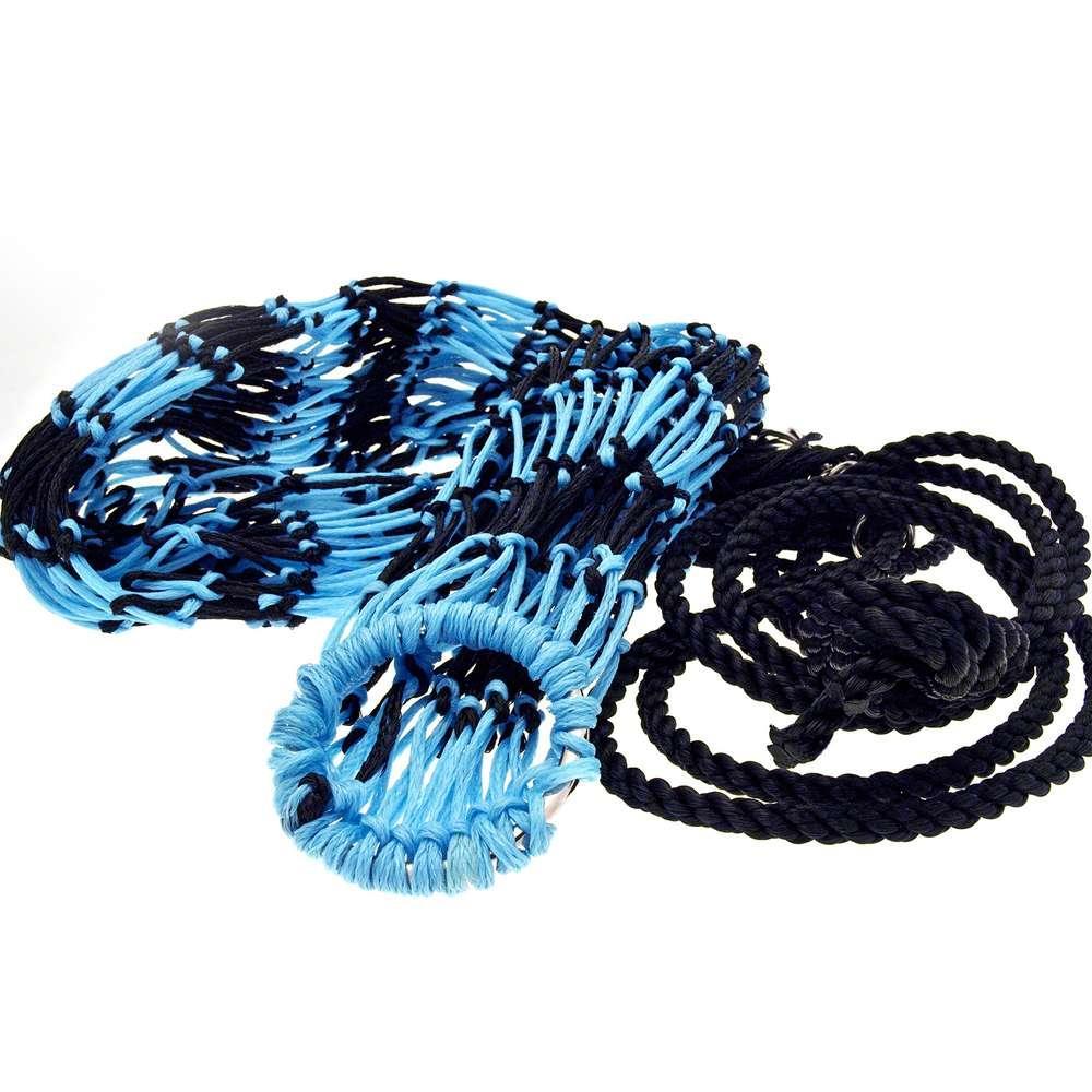 Deluxe Two-Colour Haynet - Black/Pastel Blue