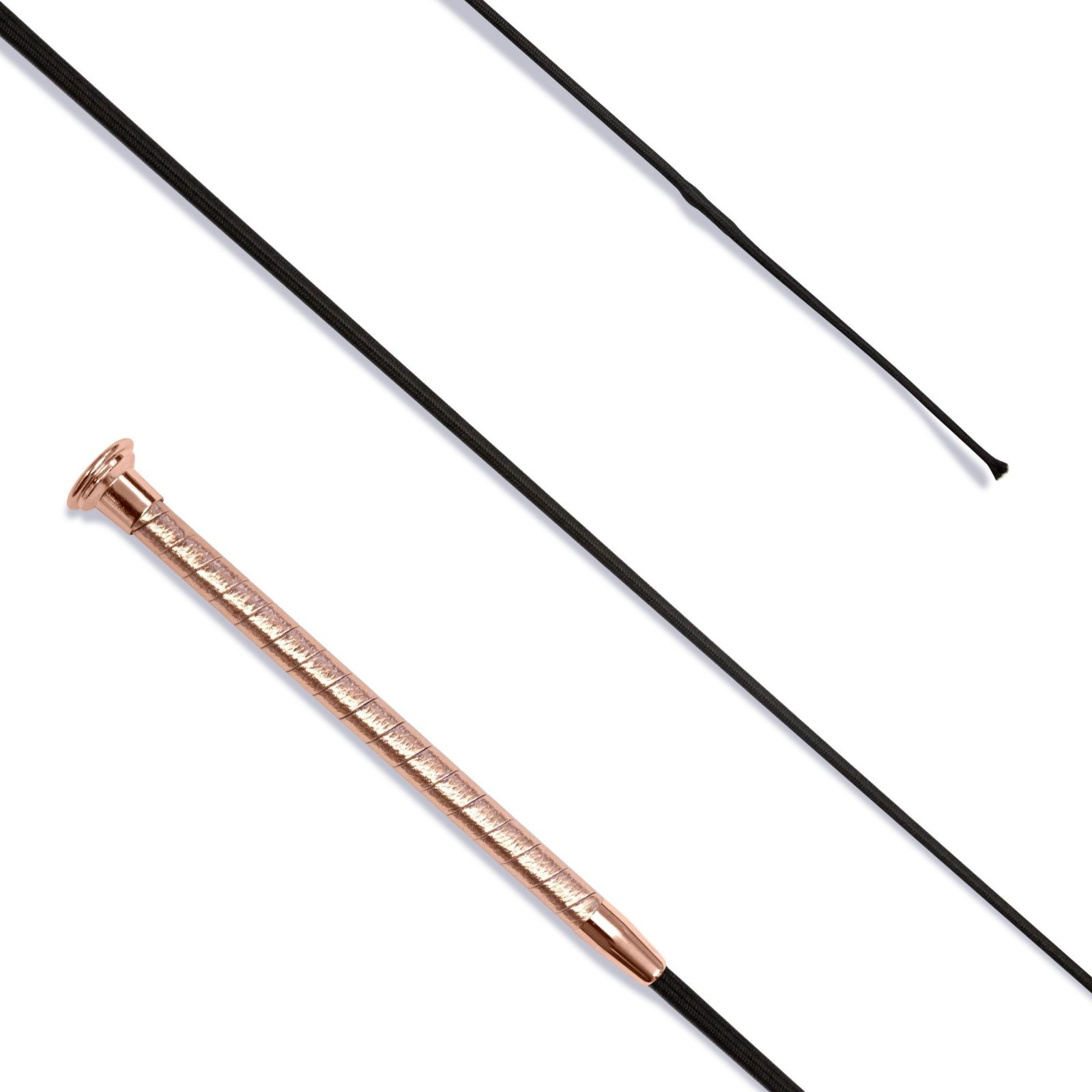 Dressage Whip Leather Grip with Rose Gold Cap