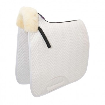 Front Rolled Dressage Square Edge White