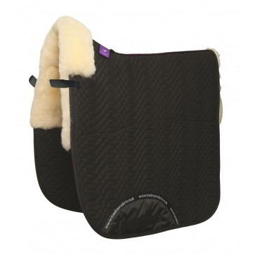 Half Lined Dressage Square Black/White