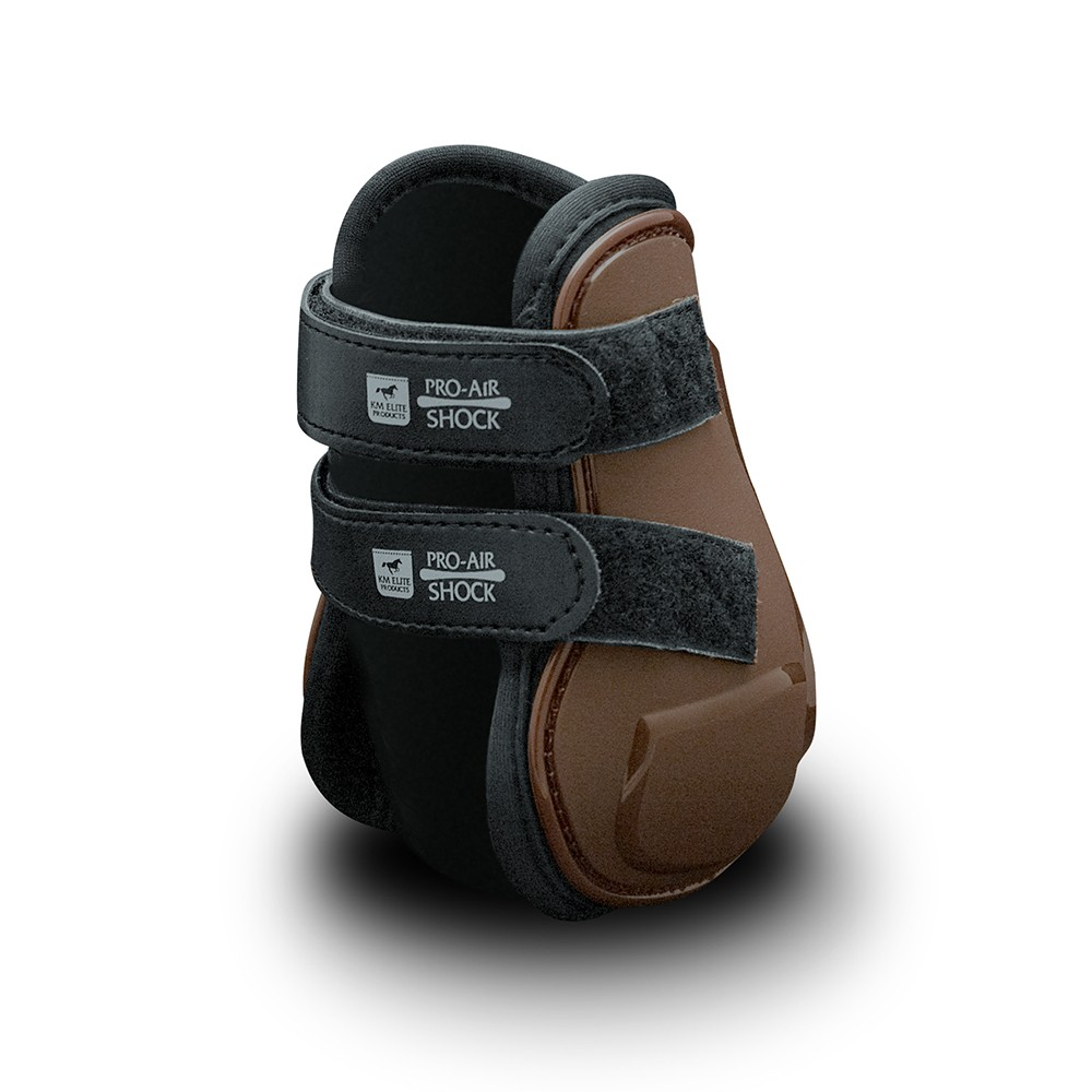KM ELITE AIR SHOCK PRO HIND FLICK BOOTS BROWN