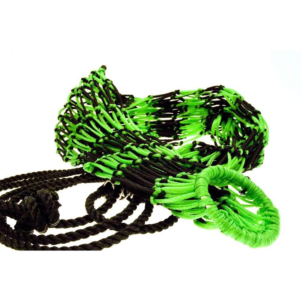 KM Elite Deluxe Two-Colour Haynet- Black/Hot Green
