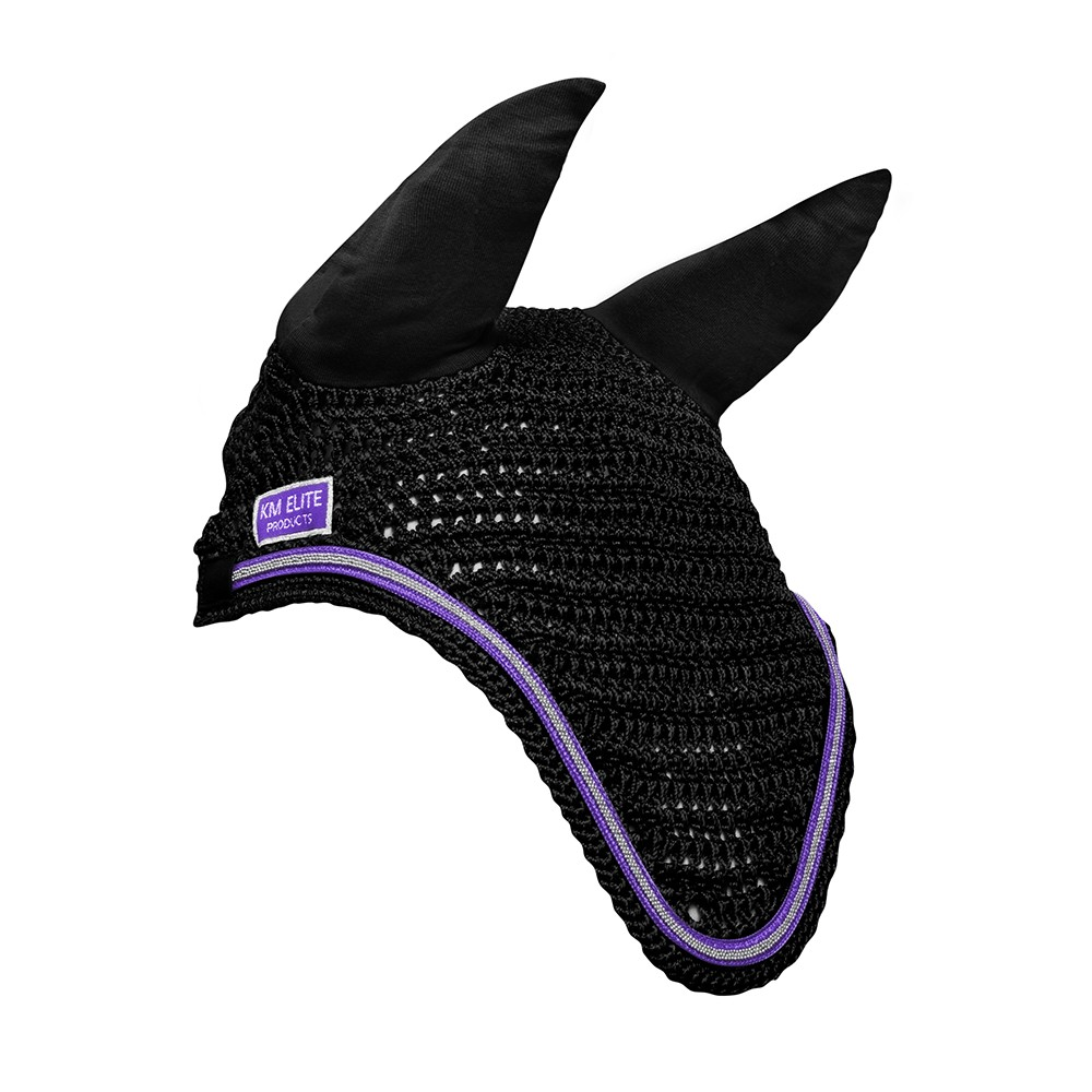 KM Elite Fly Veil Black/Purple Trim