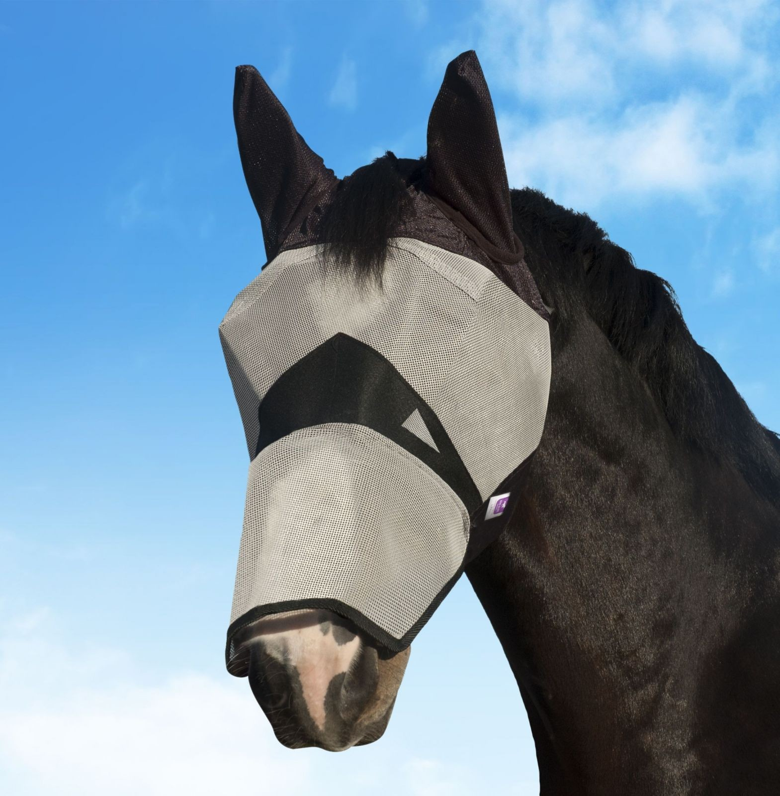 KM Fly Mask Long With Ears