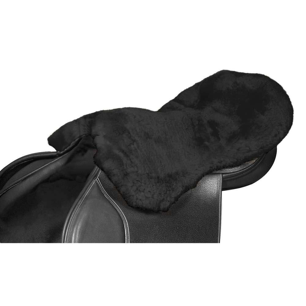 Lambswool Seat Saver Black Large