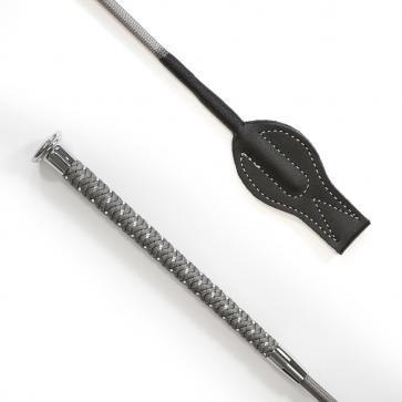 Silver Braided Junior Whip Silver Grey