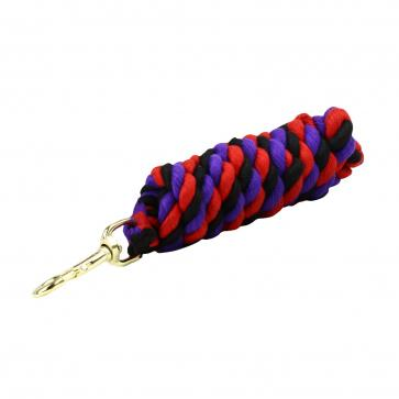 Superfine Cotton Lead Rope - Black/Purple/Red